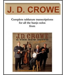 Book - J.D.Crowe Banjo Solos in tablature from the album J.D. Crowe & The New South Lefty's Old Guitar