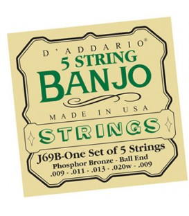 Discounts on Banjo Strings - TWO SETS Light Gauge Banjo Strings - Daddario J60
