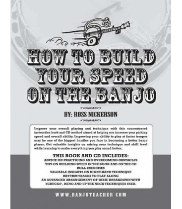 E-Book - How To Build Your Speed On The Banjo E-Book With Recordings To Download