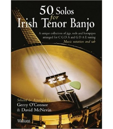 Book - Gerry O'Connor - 50 Solos For Irish Tenor Banjo Book/CD Set