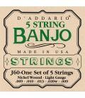 D'Addario Light Gauge Banjo Strings - J60