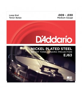 D'Addario J63 Nickel 4-String Tenor Banjo Strings
