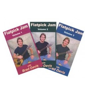 Bluegrass Band Play Along DVD - Collection - Flatpick Jam Volumes 1, 2,  &  3  With Brad Davis