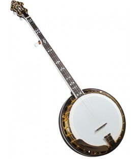 Banjo - Flinthill FHB-287A Maple Resonator Banjo with hardshell case - Raised Head