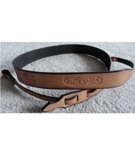 Dogwood Open Back Banjo Strap - White Layde
