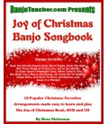 Joy of Christmas Banjo Book - Wire Bound Book/CD/DVD By Ross Nickerson