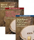 Online DVDs - Three - How to Practice Banjo-Rock Solid Banjo Timing and Backup-Playing Banjo in Differrent Keys
