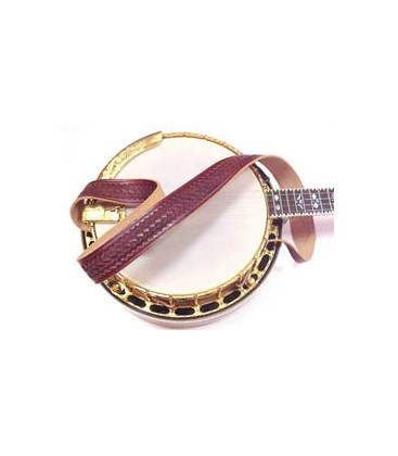 Latico Banjo Strap / Weaved Design, Soft Leather, Comfortable and Easy to Install