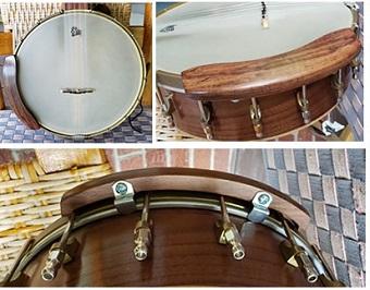 wood banjo armrest fits-18 bracket ope -back banjo
